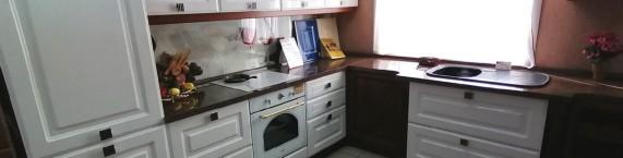 Узкая фотография Кухня Эклектика
