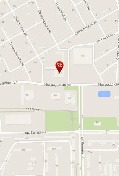Салон мебели «Пусан» в Прокопьевске на карте